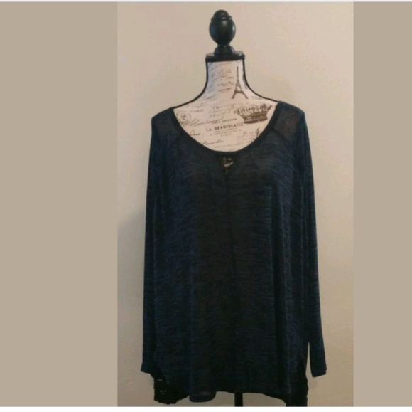 ee9bfffca25 Lane Bryant Tops | Tunic Top Lace Back | Poshmark